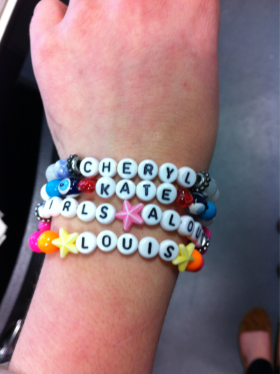 all the bracelets i've made for gracie; cheryl cole, kate middleton, girls aloud and louis tomlinson