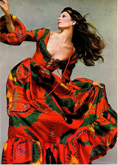 superseventies:  Anjelica Huston for Vogue, 1971.  Done. Spirit animal.