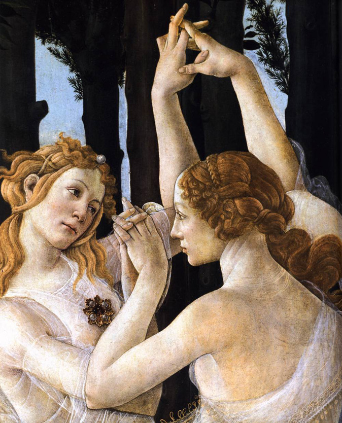Primavera, The Three Graces by Botticelli.