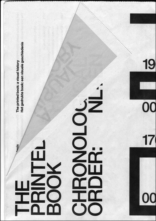 itssupernice:  Experimental Jetset Detail of the Hand-out for the show 'The Printed Book'