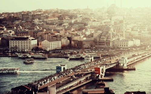 themt:  Galata bridge, Istanbul, Turkey photograph