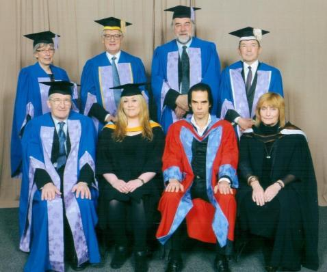 An awesome photo of Nick Cave, at the Brighton Graduate Association (BGA) of the University of Brighton. Taken from here.