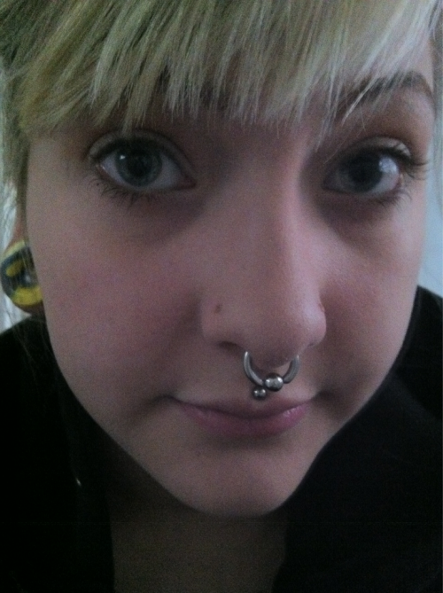 Feeling iffy today. Decided to wear a captive in my septum