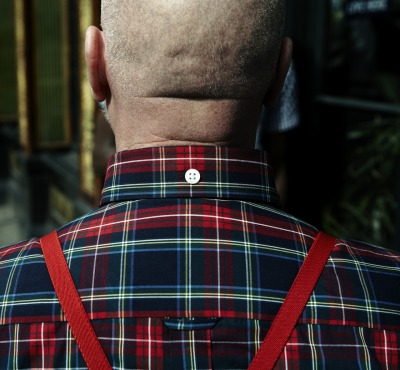 richlondonpr:  Skinhead wearing Brutus Trimfit, shot taken from the SS11 campaign, produced by Rich London.
