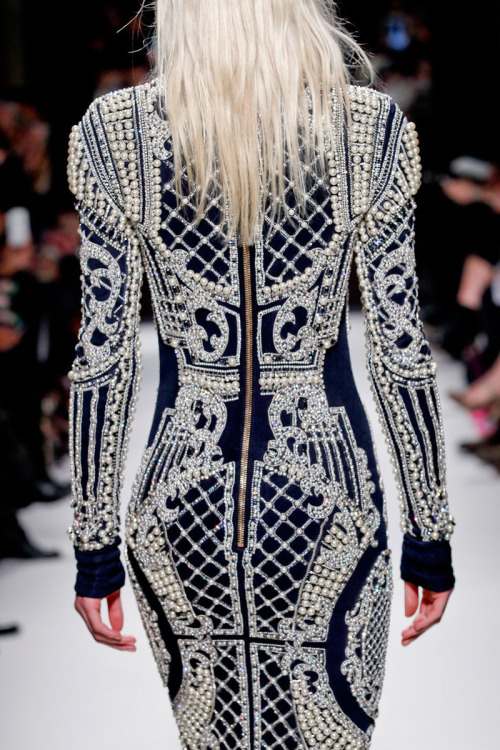 Balmain Autumn/Winter 2012 PFW Collection Show  Great job, Olivier Rousteing! The collection was just marvellously beautiful!