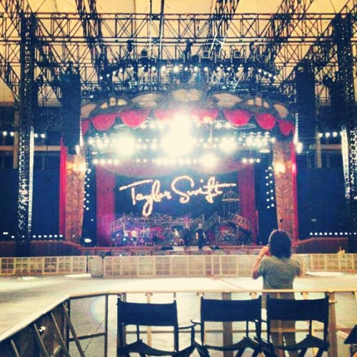 Speak Now Tour Stage in Perth Australia. Note: The floor is general admission, something different from the USA concerts.