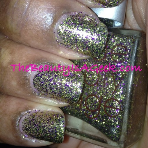 Look Rich Be Cheap by @rescuebeauty. 3 coats—Mardis Gras bling!! #nails #glitter #rescuebeautylounge #RBL (Taken with instagram)