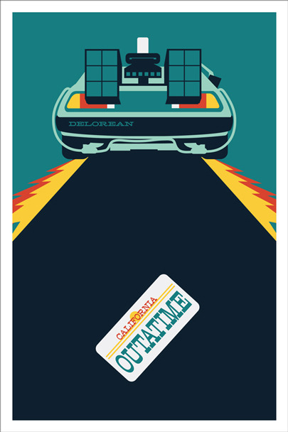 "Inspired by ""Back to the Future"" Comic Con Print 5/20 Be sure to ""Like"" my Facebook Page for a chance to win this print on March 26th!"