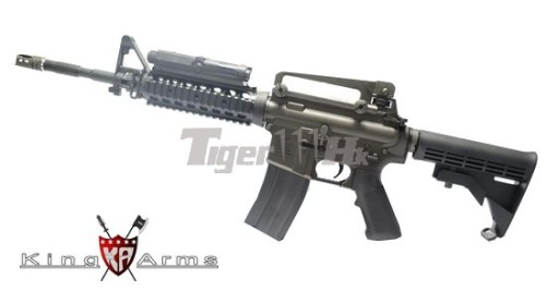 King Arms Metal Licensed Colt M4 RIS AEG with PEQ-2 [KA-AG-99] url : http://airsoft.tiger111hk.com/m27/King-Arms/p18697/King-Arms-Metal-Licensed-Colt-M4-RIS-AEG-w/AN/PEQ-2-Battery-Case/product_info.html