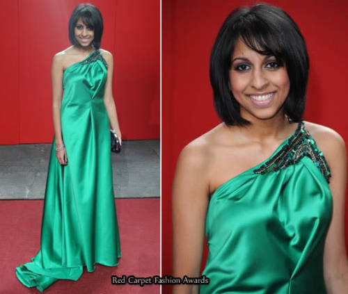 Nikki Patel from corrie's green dress