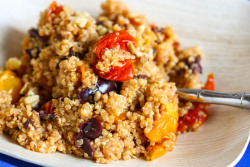 Quinoa with Roasted Tomatoes, Walnuts and Olives