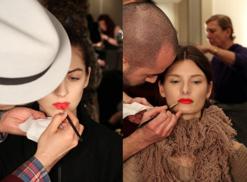 My Thakoon backstage post is up today! Loving the Nars makeup, I so need the lip in my life.