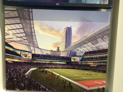 stadium-love-:  Rams Reject Stadium Plan, is Move to L.A. Coming?   Potential future stadium that would be absolutely worth visiting. The idea of a translucent retractable roof is fascinating. I hate to see NFL teams moving, but really wouldn't mind it if this stadium came to fruition because of it.