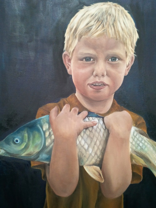'Caught'  Oil on canvas
