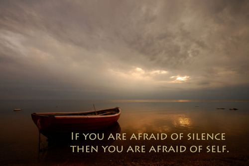 If you are afraid of silence then you are afraid of self.