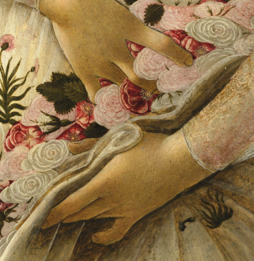 "kirgiakos, lesfoudres:  Sandro Botticelli , ""Primavera"" (aka Allegory of Spring) tempera on panel , ca. 1482"