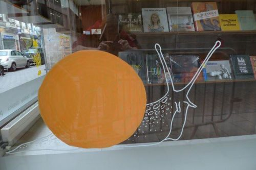 my contribution to the brighton illustration sterling books window.