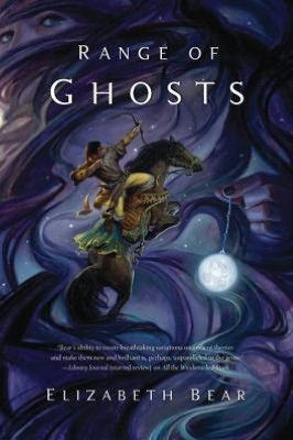 maasslitagency:  ELIZABETH BEAR - RANGE OF GHOSTS - AVAILABLE MARCH 27, 2012 Temur, grandson of the Great Khan, is walking away from a battlefield where he was left for dead. All around lie the fallen armies of his cousin and his brother, who made war to rule the Khaganate. Temur is now the legitimate heir by blood to his grandfather's throne, but he is not the strongest. Going into exile is the only way to survive his ruthless cousin. Once-Princess Samarkar is climbing the thousand steps of the Citadel of the Wizards of Tsarepheth. She was heir to the Rasan Empire until her father got a son on a new wife. Then she was sent to be the wife of a Prince in Song, but that marriage ended in battle and blood. Now she has renounced her worldly power to seek the magical power of the wizards. These two will come together to stand against the hidden cult that has so carefully brought all the empires of the Celadon Highway to strife and civil war through guile and deceit and sorcerous power. Buy RANGE OF GHOSTS!  Visit Elizabeth Bear's Website Follow Elizabeth Bear on Twitter   Reblogged with equal passion and furor for the author and the artist.