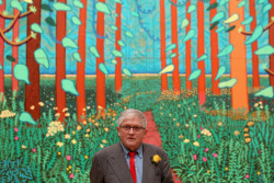 Another awesome photograph of David Hockney for your Friday morning :) (via David Hockney Pictures - Artist David Hockney At A Major Exhibition Of His Work At The Royal Academy)