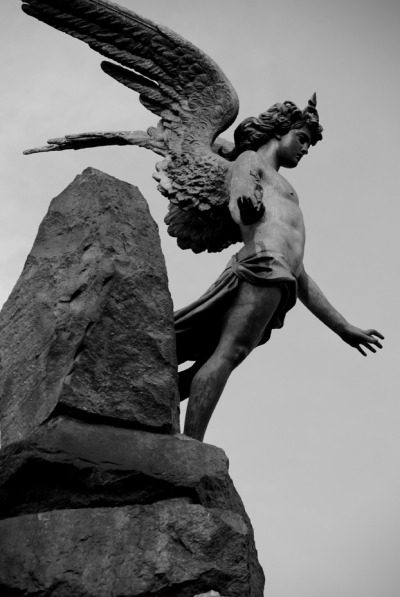100artistsbook:  Angel in Bronze