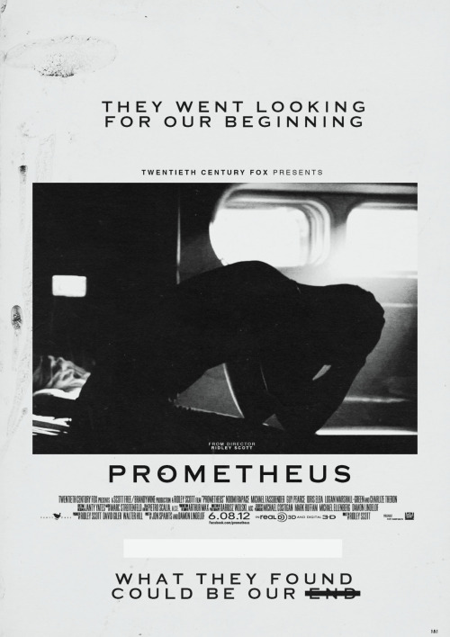 RIDLEY SCOTT'S PROMETHEUS FILM POSTER CONCEPT # 6 OF 12