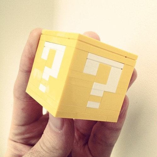 powerpig:  Lego Coin Block! I wonder what's inside? (Taken with instagram)