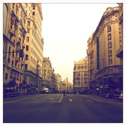 #iphoneography #madrid #granvia  (Taken with instagram)