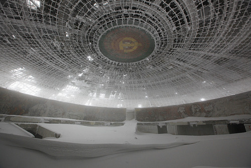 polychroniadis:  Abandoned Comunist Congress Hall, Buzludzha, Bulgaria. Photography by Timothy Allen.