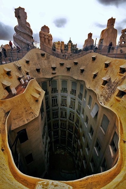 Casa Mila, Barcelona, Spain by Antoni Gaudi