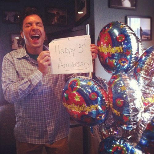 sarahbeth73:  Happy Anniversary Jimmy! Stop being so adorable….you're killing me :)  This makes me SO happy! (: