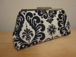 """Hot Damask!"" clutch."
