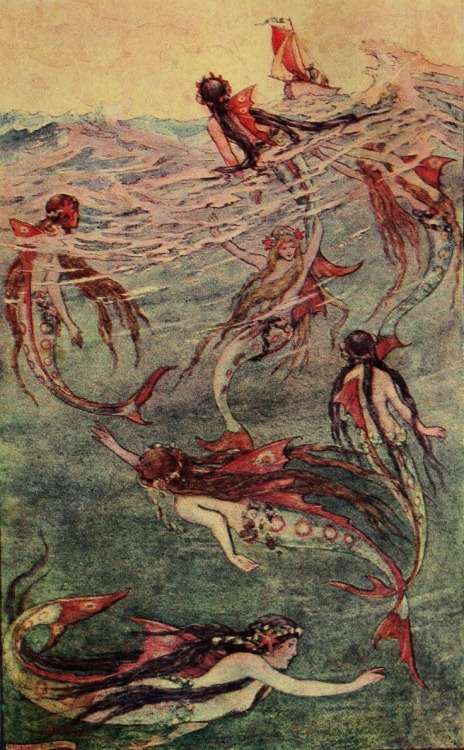 the mermaids discover sir guyon and the old palmer in their boat