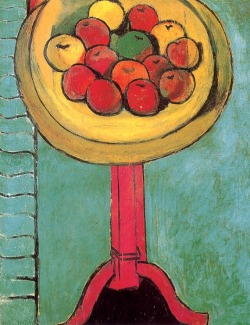 stilllifequickheart:  Henri Matisse, Apples on a Table, 1916.