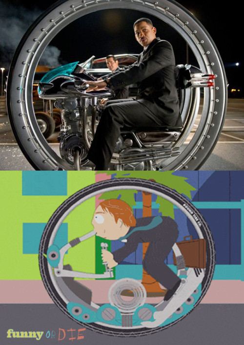 funnyordie:  Men in Black 3 Fail The new vehicle in MIB3 looks very familiar.