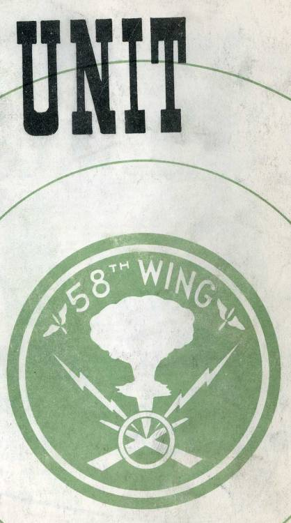 The insignia for the military unit charged with capturing aerial photographs of the atomic bomb tests on Bikini Atoll in 1946.  The layers of technology at play here are astounding: a photographer operating a camera, being flown in a plane, documenting a nuclear bomb. This image captures it all.  More information about this can be found at Ephemera Studies.