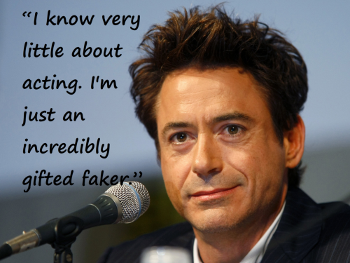 Robert Downey Jr. As I await the arrival of the Avengers