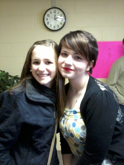 allisonnaomiburley:  I miss this girl! Molly and myself at retreat!  Aww i miss you too, Allison! <3