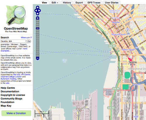 "cassieschid:  ""OpenStreetMap is a free editable map of the whole world. It is made by people like you. OpenStreetMap allows you to view, edit and use geographical data in a collaborative way from anywhere on Earth."""