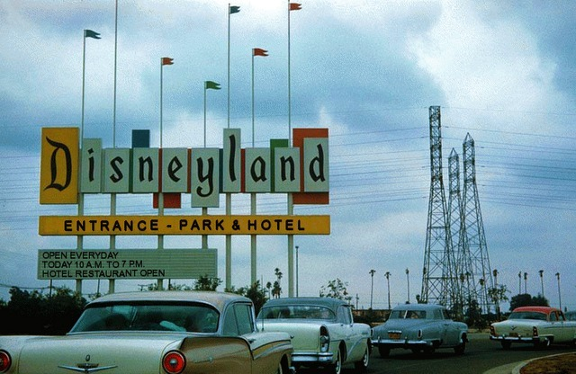 Disneyland Entrance ca. 58