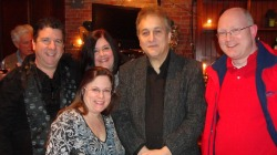 March 1- Club Helsinki, Hudson, NY- Columbia Arts Team Fundsraiser I was pleased to be a panelist with Paul Antonell of the Club House Studio in Rhinebeck, NY and Chris Weink of the AAA & Classical Radio stations WMHT-FM.We thank Sandy McKnight, Chris Deliea and Liv Cummins, a great team they are! Also their sponsors The Unger Foundation, SESAC and Club Helsinki.It was a wonderful evening featuring a performance by singer/songwriterDarla Pietra .