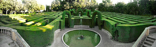 outdoorsanctuaries:   The Labyrinth (by MarcelGermain)    Let's use our wits and arrows to navigate the Maze of Fancy Beware the MINOTAUR!!!!!!!!!!!!! but don't hurt the Minotaur, I'm against that sort of thing.