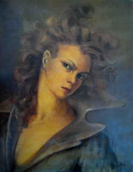 Leonor Fini (1907–1996) Argentine surrealist painter, Self-Portrait