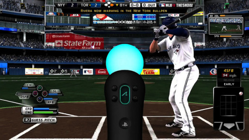 How to Move With MLB 12: The Show Users can play an entire game using the Playstation Move in MLB 12: The Show and Sony has released a new video along with info on how it works. Hitting and pitching is done by swinging the Move like a bat and using a throwing motion with the wand as if you were a pitcher on the mound. Baserunning and fielding is a bit different, as users guide baserunners like a base coach and time a button press to catch a ball in the field (the CPU controls the movement of position players). Check out the details on the PS Move controls along with the new trailer here.
