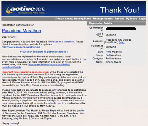 78 days till i'm a marathon runner?  There is no going back. ^.^v