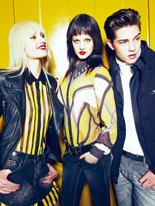 Luana Teifke, Nadine Benck and Francisco Lachowski.  Triton Fall/Winter 2012.  Ph: Zee Nunes.
