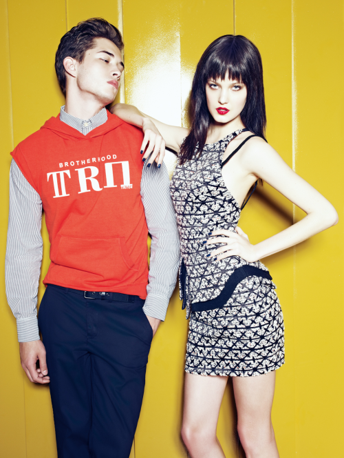 Francisco Lachowski and Nadine Benck.  Triton Fall/Winter 2012. Ph: Zee Nunes.