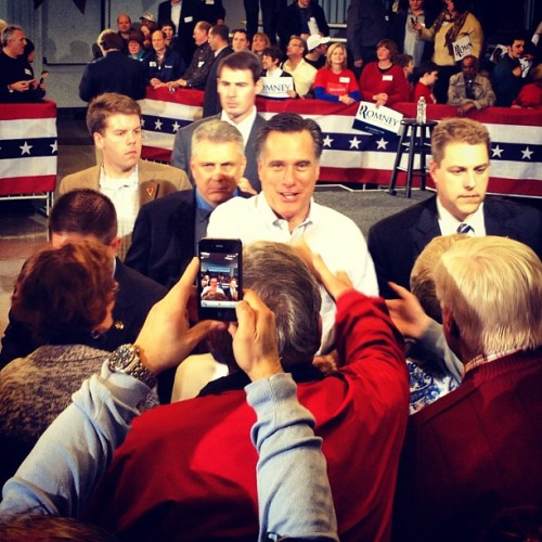 Mitt Romney in Cleveland OH (Taken with instagram)