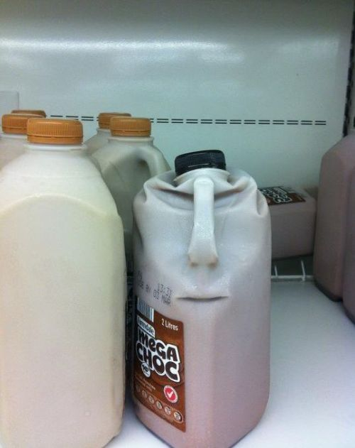 Anthropomorphic milk still lives at home - but is looking for a place.