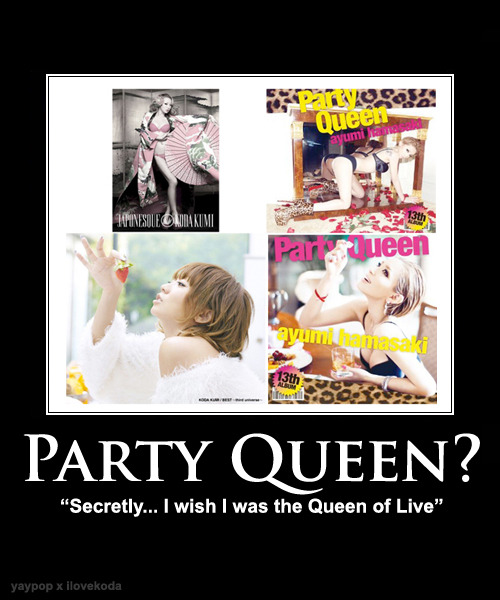 ilovekoda:  JAPONESQUE > Party Queen  wow is ayu serious with these covers? oh