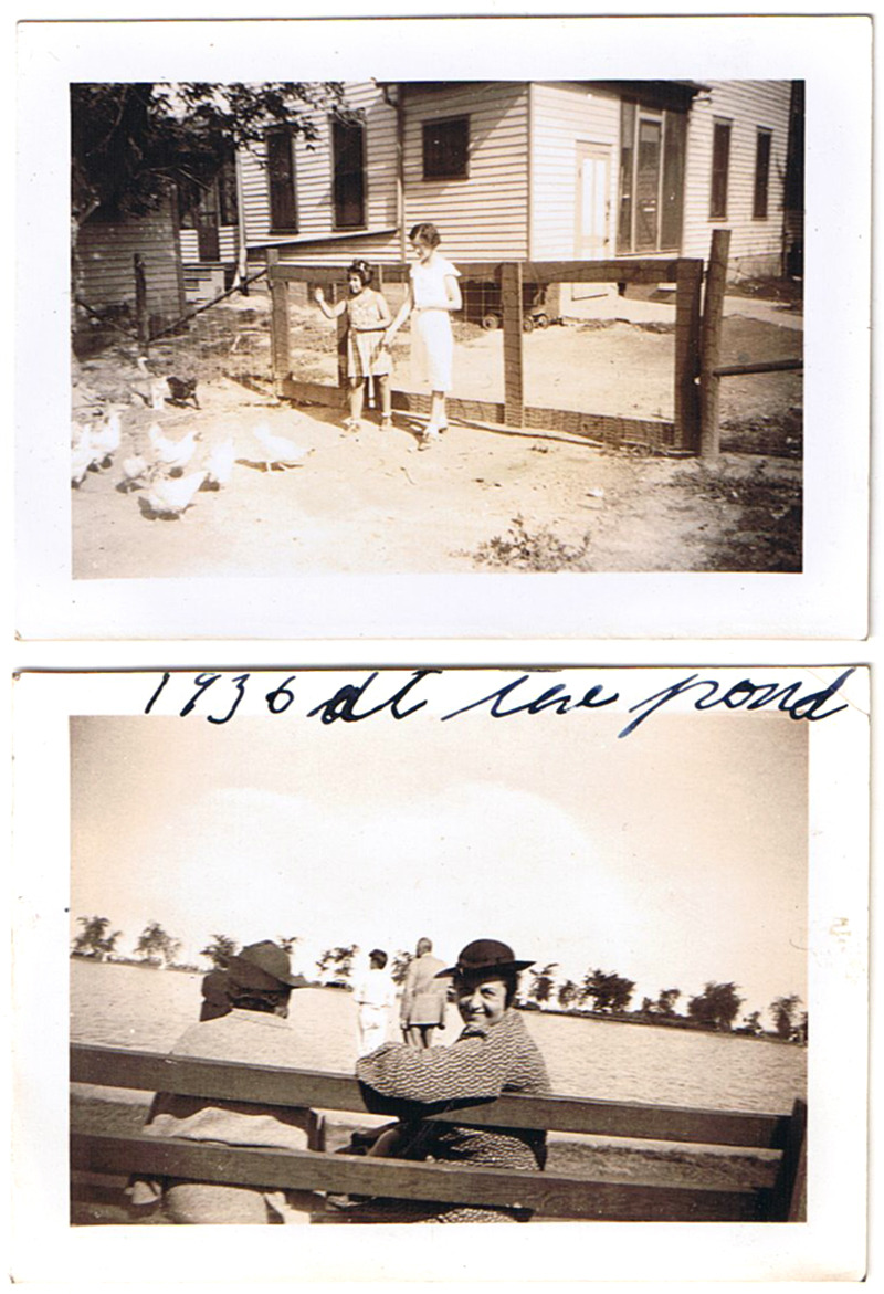 Family outing, 1936. Somewhere outside of Chicago.
